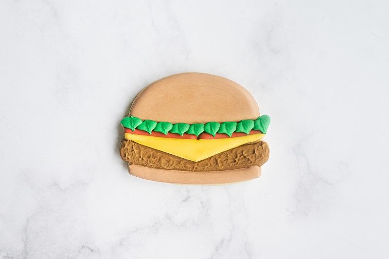 Cheeseburger Cookie Tutorial by Anne Yorks Lettuce