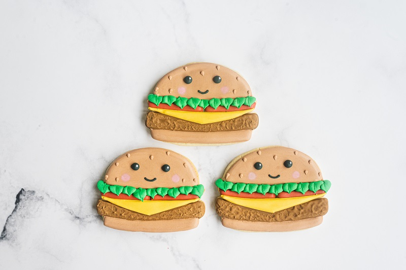 Cheeseburger Cookie Tutorial for Father's Day by Anne Yorks (2)
