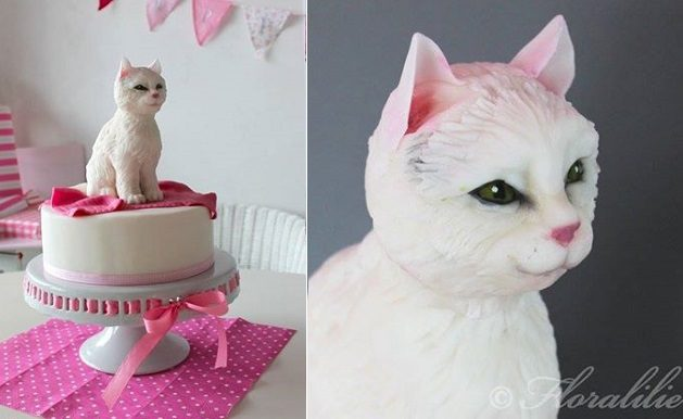 cat cake by Floralilie